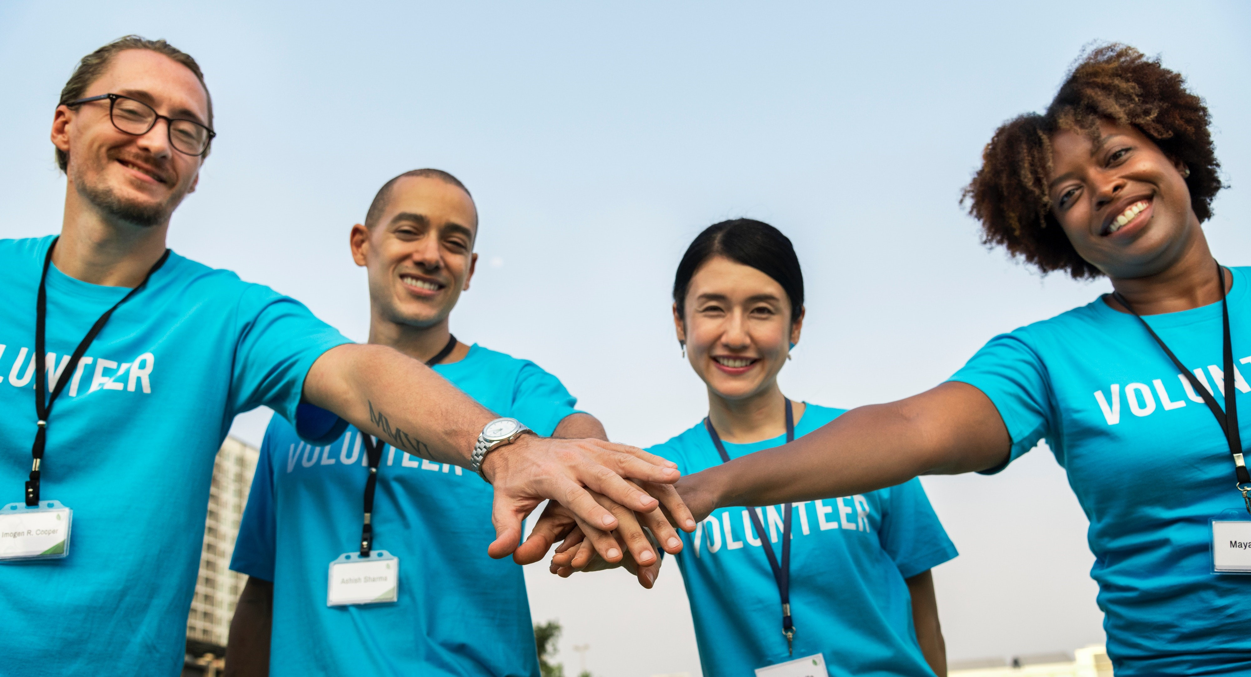 Volunteers Hands In
